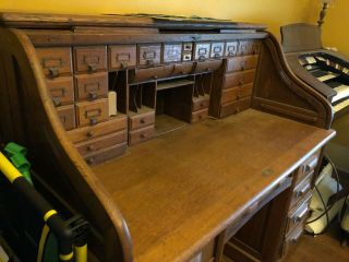 Antique Large Roll Top Desk,  Exquisite,  Family Heirloom 2