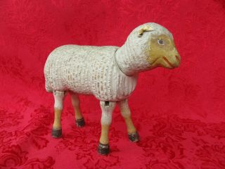 Antique Schoenhut Sheep Lamb With Painted Eyes Rare