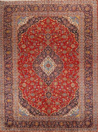 Traditional Wool Persian Red Area Rug Handmadefloral Oriental Carpet 10 X 13