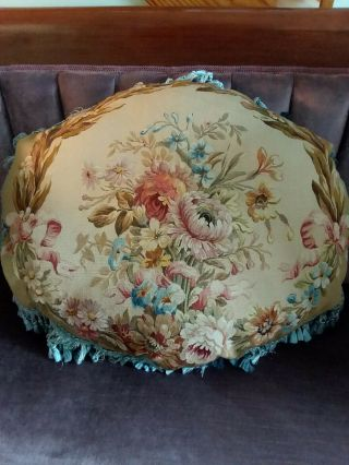 Aubusson Antique Fine Silk Weave Very Little Fade
