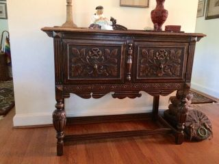 1920's Northern Furniture Company Jacobean style 10 piece dining room set 8