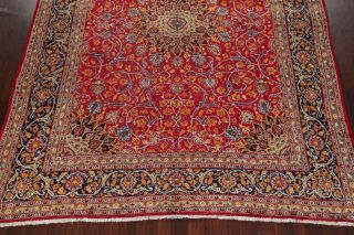 Vintage Kashmar Persian Area Rug VIBRANT RED Oriental Hand - Knotted Floral 10x12 6