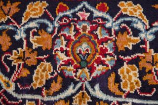 Vintage Kashmar Persian Area Rug VIBRANT RED Oriental Hand - Knotted Floral 10x12 9