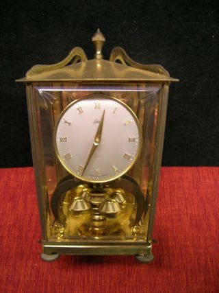 Vintage Schatz 400 Day Carriage Anniversary Mantle Clock - Made In Germany - No Key