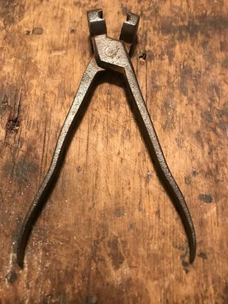 Revolutionary War 18th Century Hand Forged Iron American 6 Inch L.  Bullet Mold