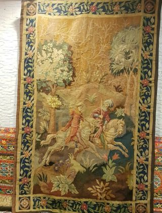 Vintage France Tapestry Wall Hanging Antique 19th Century ? Rare French Art