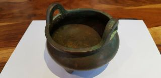 Antique 15th C Chinese Xuande Period Ming Dynasty Bronze Censer