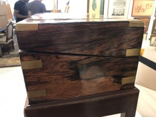 Chinese Export Huanghuali Wood Writing Box 2