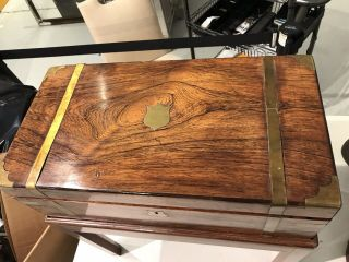 Chinese Export Huanghuali Wood Writing Box 3
