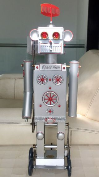 Robot Space Man Tucher Walther,  Live Steam,  Steam Engine,  Tin Toys Germany,  Rare