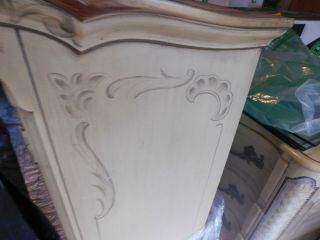 KARGES BREAKFRONT / CHINA CABINET FRENCH PROVINCIAL Hand Painted 5