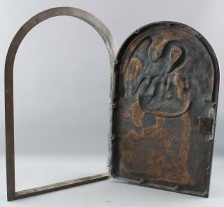 Antique Heavy Bronze Religious Reliquary Tabernacle Door Pelican Nest,  NR 10