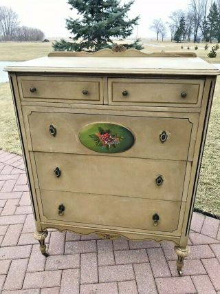 Antique French Style Chest Dresser With Drawers By Northern Furniture Company