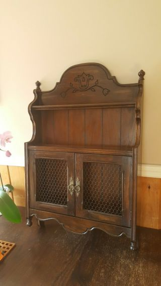 "Ethan Allen Country French Wall Cabinet 33 "" High X 21 "" Wide X 5.  5 "" Deep"
