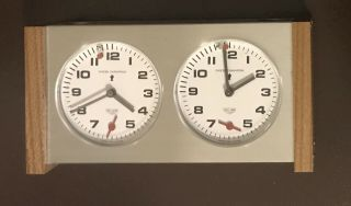 Vintage Heuer Competition Chess Champion Swiss Stopwatch Looping Clock Tag Heuer
