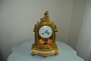 """Antique French Bronze Clock - Dial Signed """" Faivre """" 1880 -"""