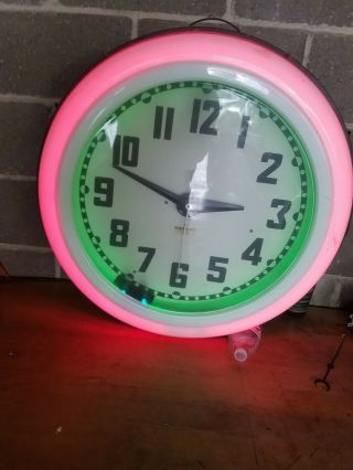 Early Cleveland Neon Clock - 100