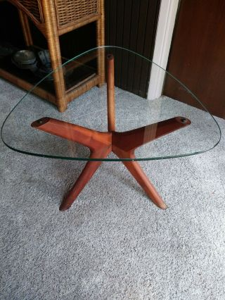 Adrian Pearsall Walnut Side End Table Mid - Century Modern Craft Associates 1950s