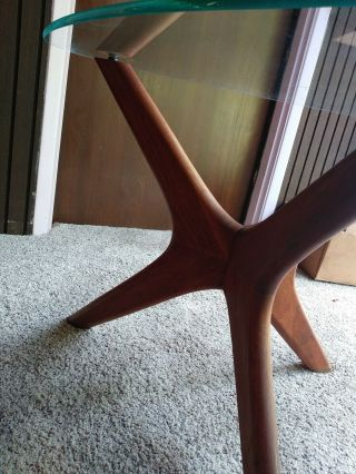 Adrian Pearsall Walnut Side End Table Mid - Century Modern Craft Associates 1950s 7