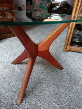 Adrian Pearsall Walnut Side End Table Mid - Century Modern Craft Associates 1950s 8