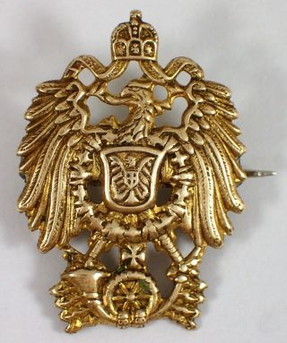 Rare Imperial Hohenzollern Eagle German Kaiser Reich Pin Badge Wwi Iron Cross
