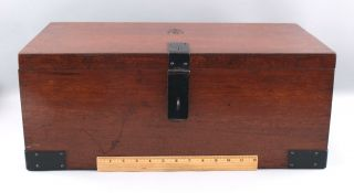 Classic Antique Signed Roycroft Arts & Crafts Mahogany,  Goody Box,  Chest