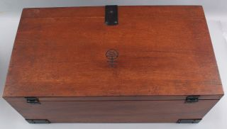 Classic Antique Signed Roycroft Arts & Crafts Mahogany,  Goody Box,  Chest 7