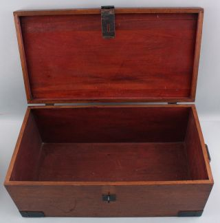 Classic Antique Signed Roycroft Arts & Crafts Mahogany,  Goody Box,  Chest 9