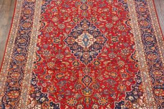 Vintage Traditional Floral Persian Area Rug Oriental Hand - Knotted Red Wool 10x13