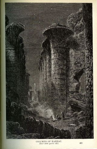 Ancient Ruins Tombs Art 1882 Pagan Gods Old World Empires Rome Egypt Greek Book 8