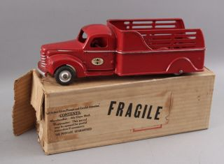 Early 1940s Antique Arcade Cast Iron International 709 Stake Truck,  Box 2