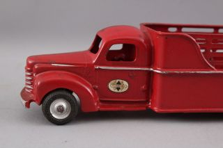 Early 1940s Antique Arcade Cast Iron International 709 Stake Truck,  Box 4