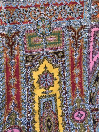 Woven cloth made for Paris Exposition 1855 Edwardian Antique Stunning Colour 3