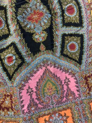 Woven cloth made for Paris Exposition 1855 Edwardian Antique Stunning Colour 4