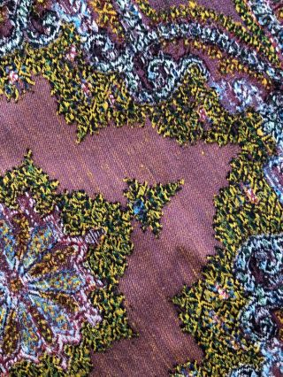 Woven cloth made for Paris Exposition 1855 Edwardian Antique Stunning Colour 5