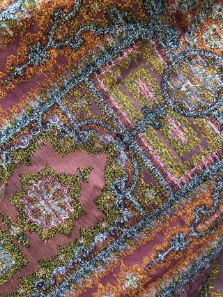 Woven cloth made for Paris Exposition 1855 Edwardian Antique Stunning Colour 6