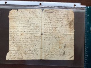Revolutionary War Military Document Dated 1777 - Campaign Report