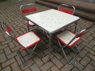 Vintage Mid Century Modern Mcm Childs Toddler Table Chairs 1960