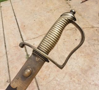 Sabre Military Rare Antique 1767 Portuguese Artillery Sword Unit Marked Scarce