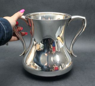 Large Antique Authentic Tiffany Sterling Silver Handled Trophy,  Urn,  Vase.  Nr