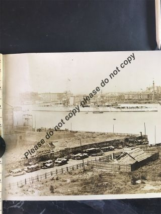 Early Large Panoramic Photograph Shanghai Harbour China Chinese Photo 146cmx20cm