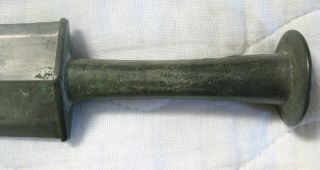 ANTIQUE ARCHAIC CHINESE BRONZE SWORD,  AND 5