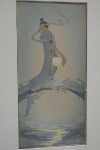 Bertha Lum Arts & Crafts Color Woodblock Print Stickley Era