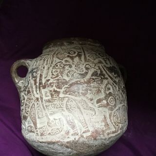 Rare Very Large Ancient Near Eastern Greco Bactrian Pictorial Vessel 180/250 Bce