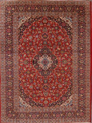 Traditional Persian Floral Area Rug Handmade Oriental Carpet 8 X 12 Medallion