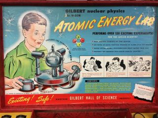 Rare Gilbert U - 238 Atomic Energy Lab toy with parts and case 3
