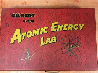 Rare Gilbert U - 238 Atomic Energy Lab toy with parts and case 4