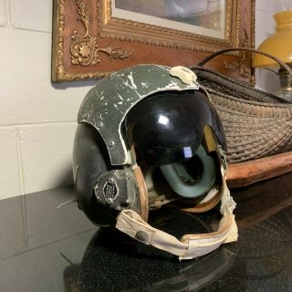 Us Air Force Vietnam Era Helmet & Visor Named Major Usaf Pilot 60c4459