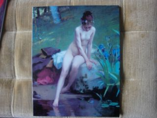 Kpm Porcelain Plaque Naked Nude
