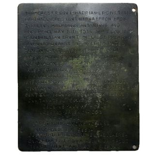 An Roman Bronze & Very Large Size Diploma - Cleaned
